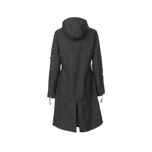 Ilse Jacobsen Full Length Rain Jacket Womens Black back