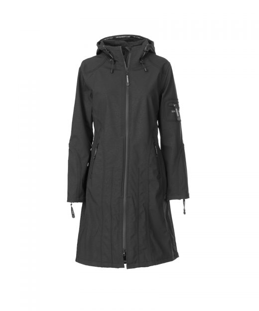 Ilse Jacobsen Full Length Rain Jacket Womens Black front