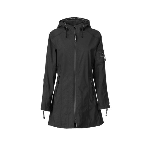 Ilse Jacobsen Hip Length Rain Jacket Womens Black