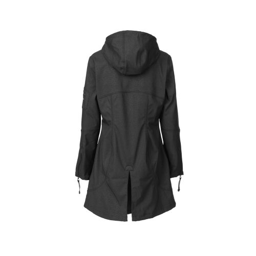 Ilse Jacobsen Hip Length Raincoat Womens Black back