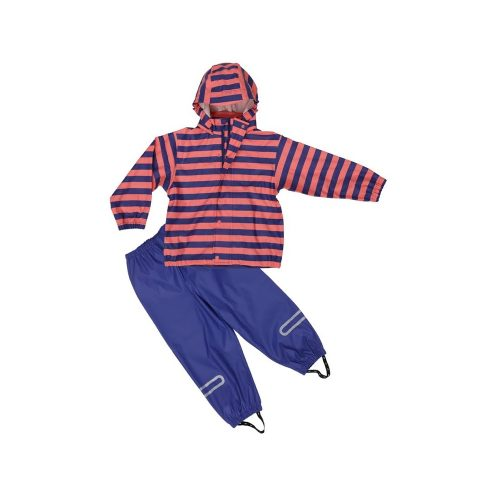 Elka Waterproof Rainset Children Purple Pink Stripes